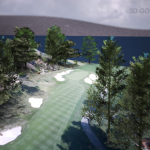 Pebble Beach - Hole 1 - 3D Golf Course